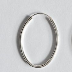 Sterling silver oval hooped earrings/handmade solid silver