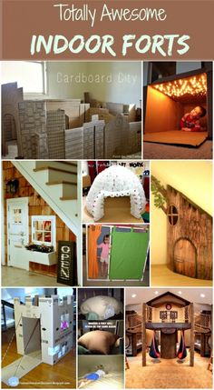 totally awesome indoor forts - with the cool weather coming - needing some creative ideas!