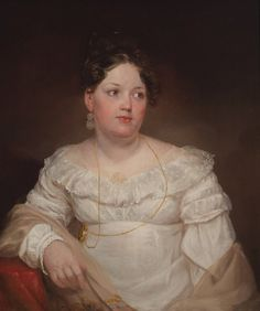 """Mrs. Francis Dallas Quash (Emma Doughty) Art: Morse, Samuel F. B., ca. 1820 Her epitaph said: """"Her happiness consisted in promoting the happiness of others and in the practice of this noble feeling she received the seeds of the disease which devoured her valuable career."""" Hmmm."""