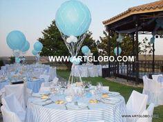 Decoración de mesa globos