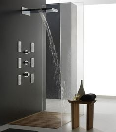Love the design of this modern shower.