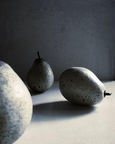 Still Life Photography Fruit Pears Grey by VictoriaEnglishCharm, $25.00
