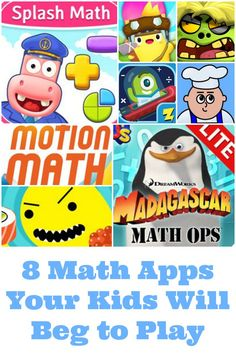 I've found these 8 math apps that your kids will beg to play during their screen time. Every one of them is phenomenal, and even the few that are subscription based are still very affordable compared to the hundreds a month for a tutor. Educational Activities, Learning Activities, Activities For Kids, Activity Ideas, Free Homeschool Curriculum, Fun Math Games, Math Concepts, Elementary Math, Fun Learning