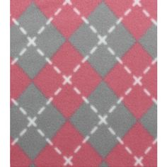 Blizzard Fleece Fabric- Pink And Gray Argyle (€3,52) ❤ liked on Polyvore featuring backgrounds, diamond and grey