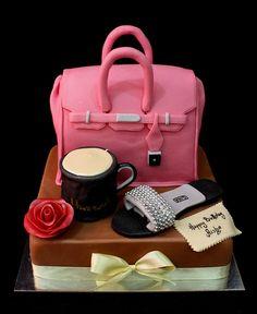 hermes bag cake by The House of Cakes Dubai,