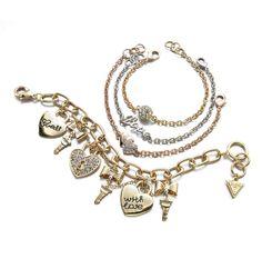 Show a little love, GUESS charm bracelets