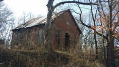 Old Schoolhouse - Rush County Indiana - District 2 Orange Township - January 2015