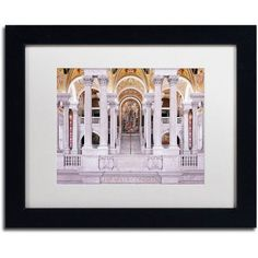 Trademark Fine Art Library of Congress Canvas Art by Gregory O'Hanlon, White Matte, Black Frame, Size: 11 x 14