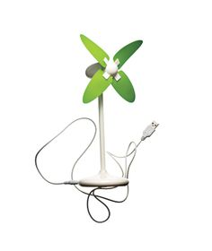 Cool! USB Desktop Windmill Fan. Plugs into your computer's USB port. Great idea for the office. $18, flapplesfun.com
