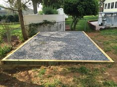 There are many advantages to making your gravel shed foundation wider than your shed. Learn about the advantages and our site preparation service. Concrete Base For Shed, Concrete Sheds, Shed Foundation Ideas, Diy Foundation, Shed Base, Leveling Yard, Vinyl Sheds, Building A Floating Deck, Backyard Greenhouse