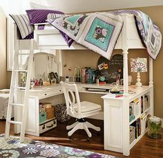 Totes wish I had had something like this as a girl/teen http://pinterest.com/starbuk/bedroom-ideas-for-teenage-girl/