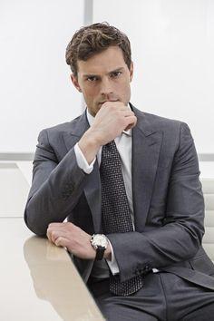 Jamie as Christian Grey. #FiftyShades #JamieDornan