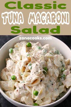macaroni salad recipe easy \ macaroni salad - macaroni salad recipe - macaroni salad easy - macaroni salad with egg - macaroni salad recipe easy - macaroni salad hawaiian - macaroni salad with tuna - macaroni salad with ham Macaroni Salad With Ham, Macaroni Recipes, Tuna Recipes, Easy Salad Recipes, Casserole Recipes, Creamy Tuna Pasta, Tuna Salad Pasta, Quick Healthy Meals, Healthy Eating Recipes