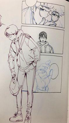 Drawings illustration sketchbook pages, art drawings, character design, dra Sketchbook Inspiration, Art Sketchbook, Art Reference Poses, Drawing Reference, Pretty Art, Cute Art, Wow Art, Aesthetic Art, Manga Art