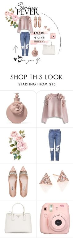 """""""Spring fever"""" by caro-marie ❤ liked on Polyvore featuring Chicwish, Topshop, Miu Miu, EF Collection, Prada, cute, Flowers, valentino and springfashion"""