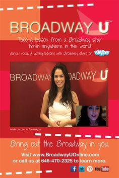 "Arielle Jacobs of ""In The Heights"" can give you a vocal or acting lesson today!"