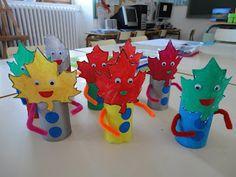 Atendiendo Necesidades: Ideas para el Otoño Autumn Leaves Craft, Autumn Crafts, Autumn Art, Nature Crafts, Summer Crafts, Kids Crafts, Leaf Crafts, Diy And Crafts, Paper Crafts