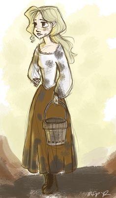 Blonde peasant girl