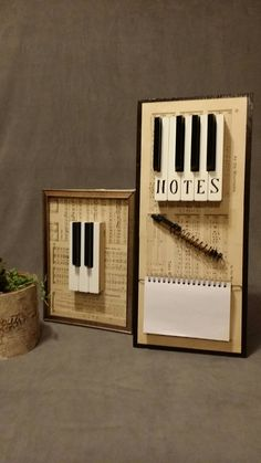 """A photo of one of my new favorites, the """"notes"""" panel! It's been hugely successful! Piano Crafts, Music Crafts, Music Decor, Piano Desk, Piano Art, Key Crafts, Home Crafts, Old Pianos, Repurposed Items"""