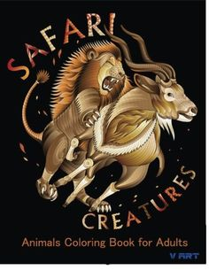 Safari Creatures: Animals Coloring Book for Adults (Volume 2) by V Art http://www.amazon.com/dp/1523914394/ref=cm_sw_r_pi_dp_NARTwb02EMP0Q