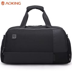 Aoking Large Mens Travel Bags High Capacity Fashion Nylon Duffel Bag Trendy Shoulder Bags Mens Tote Two Size Handbags