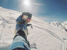 "C H I A R A L I T A on Instagram: ""All this fresh powder got me real happy ☃️🙌🏼 #snowday #gopro #mountainlife #offpiste"""