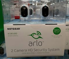 Arlo NETGEAR Security camera system 2 HD 100% Wire-Free Indoor/Outdoor (MWS3230) #Netgear