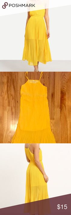 Gorgeous chiffon dress New, unworn chiffon yellow summer dress. Can go both with casual and formal occasions! Dresses Maxi