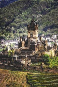 Medieval Castle in Cochem, Germany.