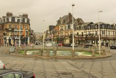 Place de Morny Deauville Normandy. Distracted by the deluge in Deauville http://www.normandythenandnow.com/distracted-by-the-deluge-in-deauville/
