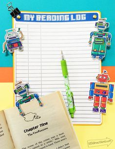 Robot Reading kit designed by Jen Goode and made with Cricut
