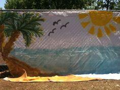 backdrop for bazaar booth!