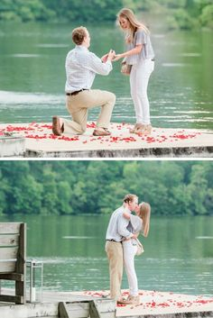 After she said yes on a private floating dock surrounded by rose petals, the surprises kept coming!