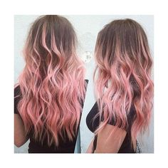 20 Gorgeous Pastel Pink Hairstyles and Hair Colors ❤ liked on Polyvore featuring beauty products, haircare, hair color and hair