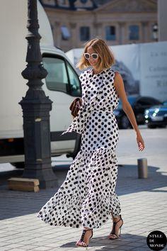 #New on #STYLEDUMONDE http://www.styledumonde.com with @candelanovembre #CandelaNovembre at #paris #fashionweek #polkadot #outfit #ootd #streetstyle #streetfashion #streetchic #fashion #mode #style