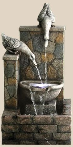 Duck Water Fountain  JOLIE  FONTAINE,,,, BEAUTIFUL,,,,,,**+