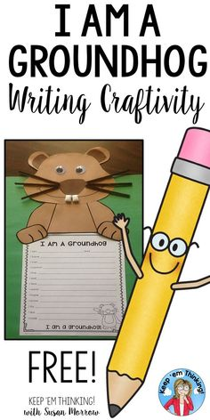 This free Groundhog Day Craftivity will look adorable on a classroom bulletin board or hallway display. Perfect for kindergarten, first, second, & third grader students. With patterns for tracing & cutting out or photocopying for easy prep, this craftivity can easily be differentiated for students who need fine motor practice. Complete the writing prompt by writing facts learned about groundhogs. Make learning fun with this seasonal display you can use year after year! {K, 1st, 2nd, 3rd}