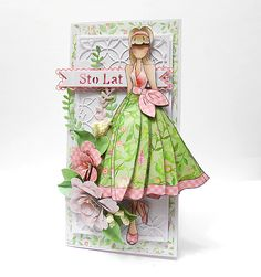 How perfect is this Julie Nuting card for spring? Created by Agata Lenc-Brol Kontakt we found it on our Julie Nutting Doll Club group on Facebook! Sweet and ready for spring!