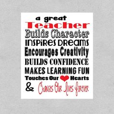 Teacher Appreciation Gift, Teacher Gift, Principal Gift, Teacher of the Year Gift, Education Graduate Gift, PDF Digital File on Etsy, $8.00