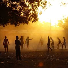 Soccer in Burkina, image by Joe Penney