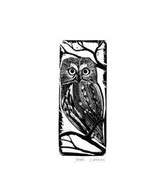 OWL - Wood Engraving