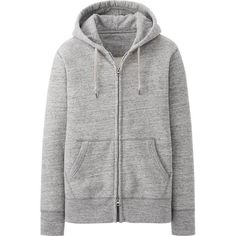 UNIQLO Sweat Full Zip Long Sleeve Hoodie ($15) ❤ liked on Polyvore featuring mens, men's clothing and men's hoodies