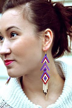"""Quills and beads"" earrings by Caroline Blechert"