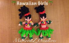 Rainbow Loom Hula Girl: How To: tutorial by MarloomZ Creations.