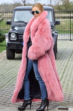 NEW SAGA FOX LONG FUR COAT CLAS OF CHINCHILLA SABLE JACKET MINK SILVER PINK BLUE | Clothing, Shoes & Accessories, Women's Clothing, Coats & Jackets | eBay!