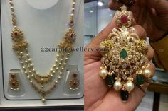 3 Layer Pearl Set and Pendant - Jewellery Designs