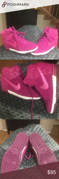 Woman Nike Dunk Sky Hi Brand New • without box and tags • Magenta • Sz. 8 • Nike Dunk Sky Hi • This was a gift that was never given • Lost receipt • Authentic Nike Shoes Sneakers