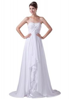 GEORGE BRIDE Elegant One Shoulder Sweep Train Beaded Wedding Dress Size 12 White GEORGE BRIDE,http://www.amazon.com/dp/B0097J10IQ/ref=cm_sw_r_pi_dp_xm.Etb1RF4R32W5F