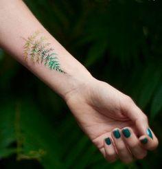 Magdalena Bujak fern tattoo