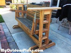 DIY Glider Swing Stand | MyOutdoorPlans | Free Woodworking Plans and Projects, DIY Shed, Wooden Playhouse, Pergola, Bbq
